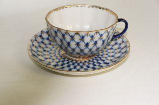 Teetasse & Teller Tasse Kaffee Kobaltnezt Lomonosov Russia Bild