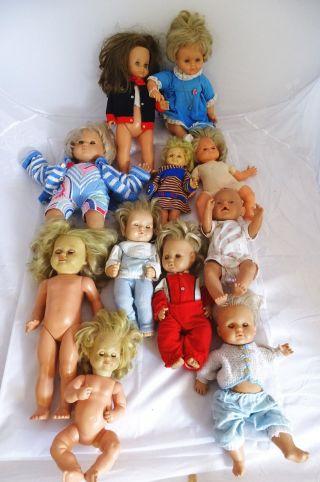 Riesiges Bastler Konvolut Alte Antike Puppen Schildkröt Zapf Götz Puppen Doktor Bild