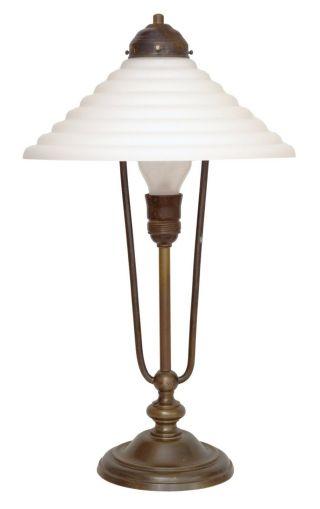 Wunderschöne Art Déco Tischlampe Tischleuchte Geschwungen 1930 - 1940 Bild