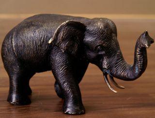 Bronze Elefanten Skulptur Statue Elefant 20cm 708d Bild