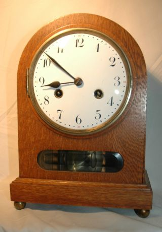 Tischuhr,  Kaminuhr,  Bracket Clock,  Junghans Bild