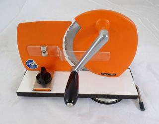 Jupiter Vintage Retro Brot Schneidemaschine Brotschneider Orange Bild