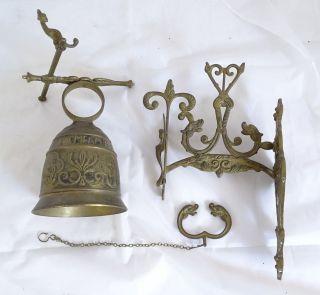 Antike Messing Glocke Mit Lateinischer Aufschrift Qui Me Tangit Ocem Meam Audi Bild
