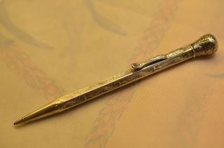Alter Antiker Verzierter Bleistift Drehbleistift Silber 835 Gebr.  Hepp Pforzheim Bild