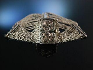 Antike Trachten Kropf Kette 12reihig Silber Granat Salzburg 1910 Silver Necklace Bild