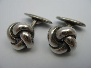 Klasse Massive 40er Jahre 835 Silber Knoten Manschettenknöpfe Bild