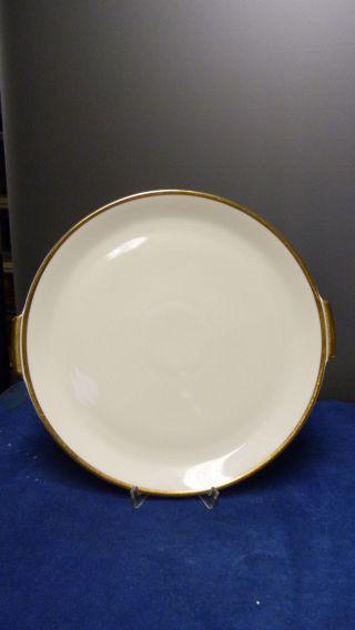 Rosenthal Bettina 50er Jahre Porzellan - Kuchen - / Tortenplatte - Elfenbein/gold Bild