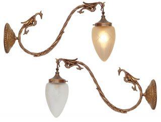 Einzigartige Museale Orig.  Französische Jugendstil Wandlampen