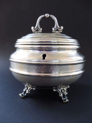Jugendstil 800 Silber Zuckerdose Dianakopf Art Nouveau Sugar Bowl Box Wien Zisel Bild
