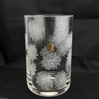 Rare Theresienthal Vase Blumenvase Bleikristall 22cm Blumen Astern Dekor 1,  7kg Bild