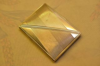 Altes Art Deco Silber 835 Zigarettenetui Oder Visitenkarteneteui 1932 Bild