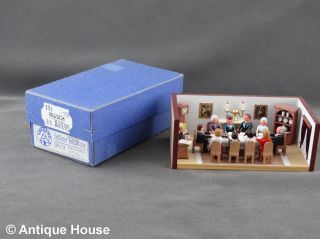 Erzgebirge Volkskunst Miniatur Dregeno Seiffener Wohnstube Bild