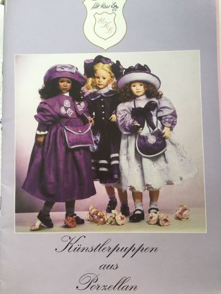 1996 Ute Kase - Lepp Künstlerpuppen Aus Porzellan,  Katalog Bild