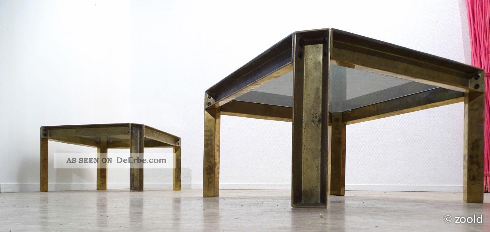Peter Ghyczy - Brass Sidetable 1966   Coffe Table   Beistelltisch - Gemarkt 1960-1969 Bild