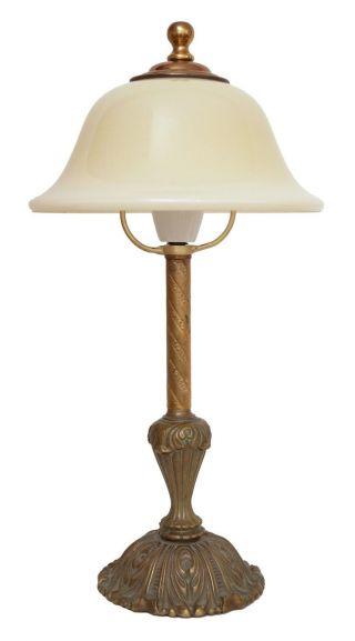 Sehr Elegante Jugendstil Tischleuchte Um 1930 Verziert Lampe Leuchte Bild