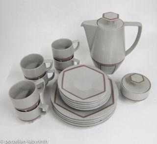 Kaffeeservice Aus Keramik 60er Jahre Rosenthal Kaffeekanne Kaffeetasse Bild