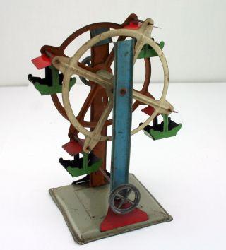 Kleines Riesenrad Für Dampfmaschine Altes Blechspielzeug Rummel Jahrmarkt Bild