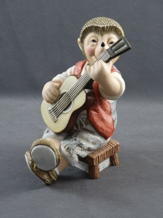 Goebel Figur Mecki Mit Gitarre Gitarrenspieler Bild