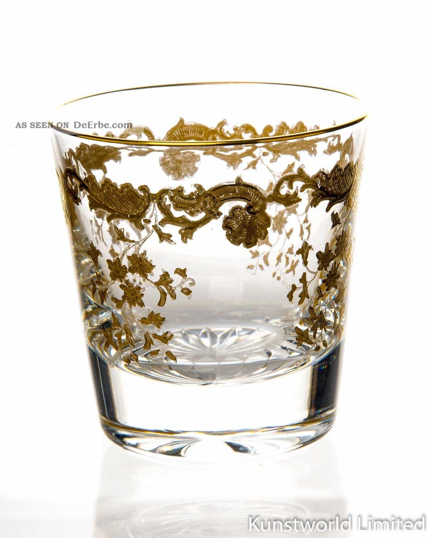 Whiskyglas Saint Louis Massanet Golddekor 1.  Wahl Kristall Bild