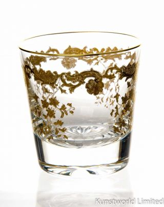 Whiskyglas Saint Louis Massanet Golddekor 1.  Wahl Bild