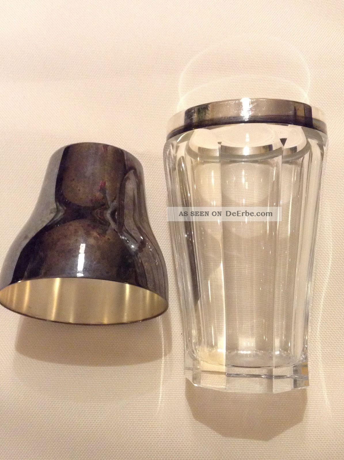 Antik Wmf Cocktail Mixer Shaker Kristall Silber Versilbert Selten Sammler Kristall Bild