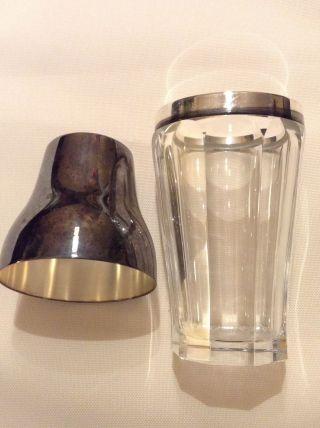 Antik Wmf Cocktail Mixer Shaker Kristall Silber Versilbert Selten Sammler Bild