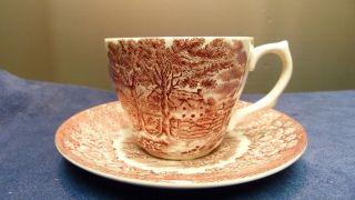 British Anchor Ironstone England - Memory Lane - Kaffeetasse,  Untertasse - Bild