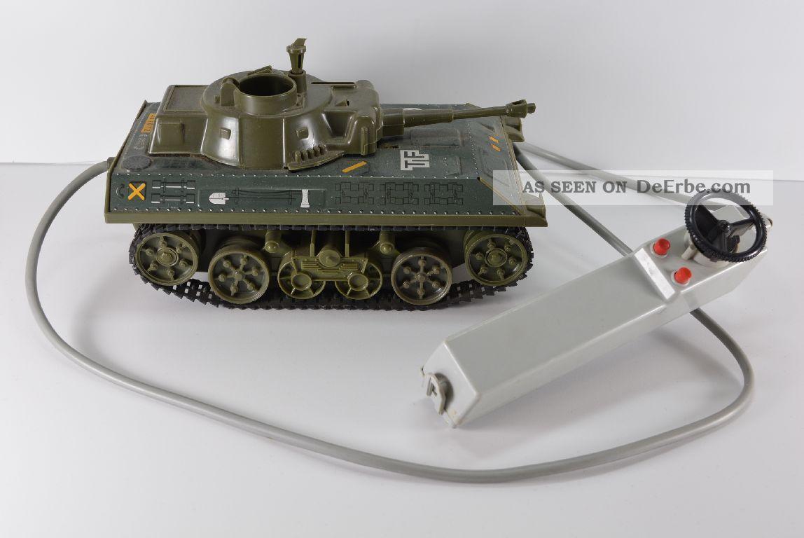 Alter Joustra Panzer Made In France Tf 56 Blech Kunststoff Kabelfernbedienung Original, gefertigt 1945-1970 Bild