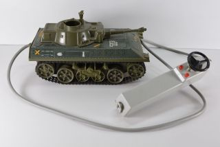 Alter Joustra Panzer Made In France Tf 56 Blech Kunststoff Kabelfernbedienung Bild