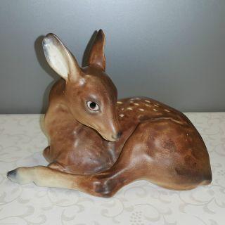 Seltene Western Germany Cortendorf Keramik Figur 15,  5cm Reh Rehkitz Bambi 2535a Bild