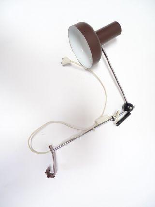 Sehr Seltene 70er Jahre Kugelgelenk Schreibtisch Lampe Architektenlampe Braun Bild