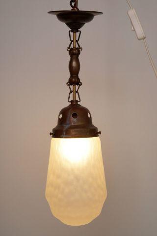 Sehr Schöne Zierliche Jugendstil Deckenlampe Hängeleuchte 1910 Bild
