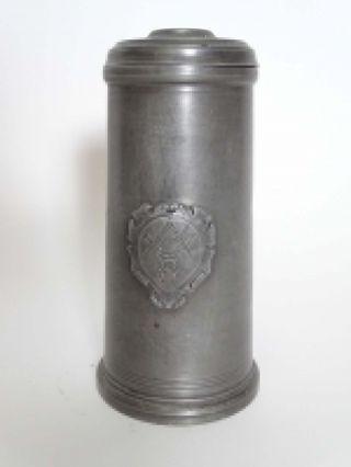 Antiker Zunft Krug Böttcher Fein Zinn Königsberg Vor 1900 Mit Wappen Und Stempel Bild