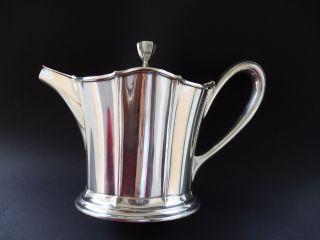 Solide Große Art Deco Krupp Berndorf Design Teekanne Teapot Versilbert QualitÄt Bild