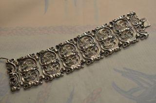 Schönes Massives Verziertes Damenarmband Bas Silber 925 Bild