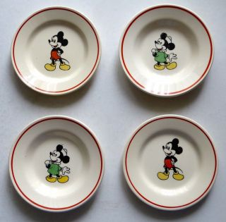 Kinder Puppen Geschirr Suppen - Teller Mickey - Mouse Bild