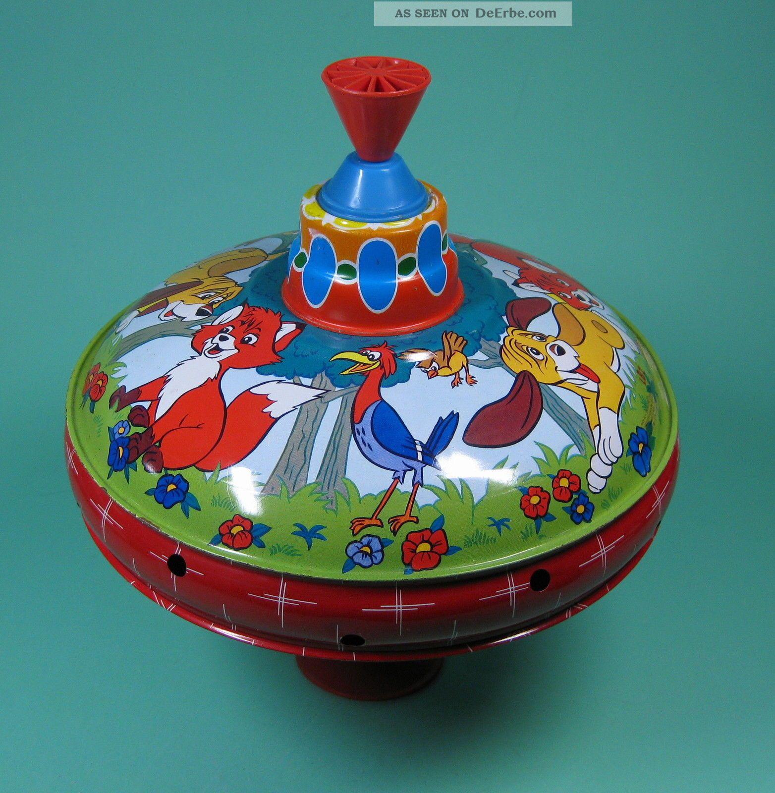 Blechkreisel Walt Disney Brumm Kreisel Lbz Top 70er Made In Germany Original, gefertigt 1945-1970 Bild