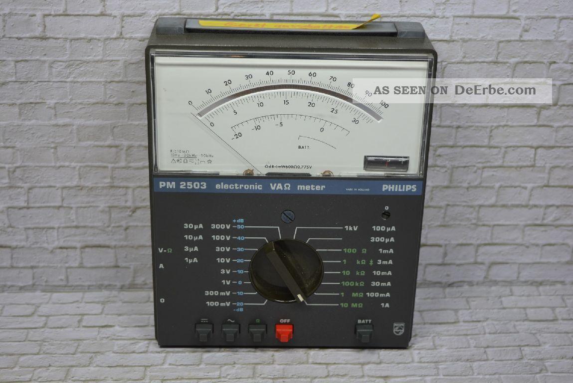 Vielfachmessgerät Pm 2503 Hetsteller: Philips Nl,  Um 1975; K23 58 Wissenschaftliche Instrumente Bild