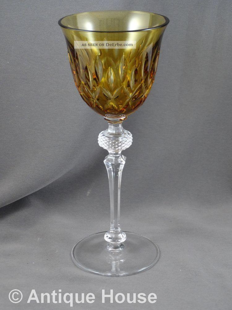 Wmf Cristal Cabinet Römer Bernsteinfarben Kristall Bild