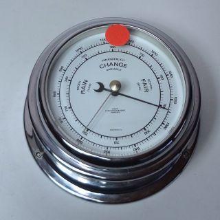 Barometer Von Wempe Hamburg Compensated Silber 15 Cm Durchmesser Bild