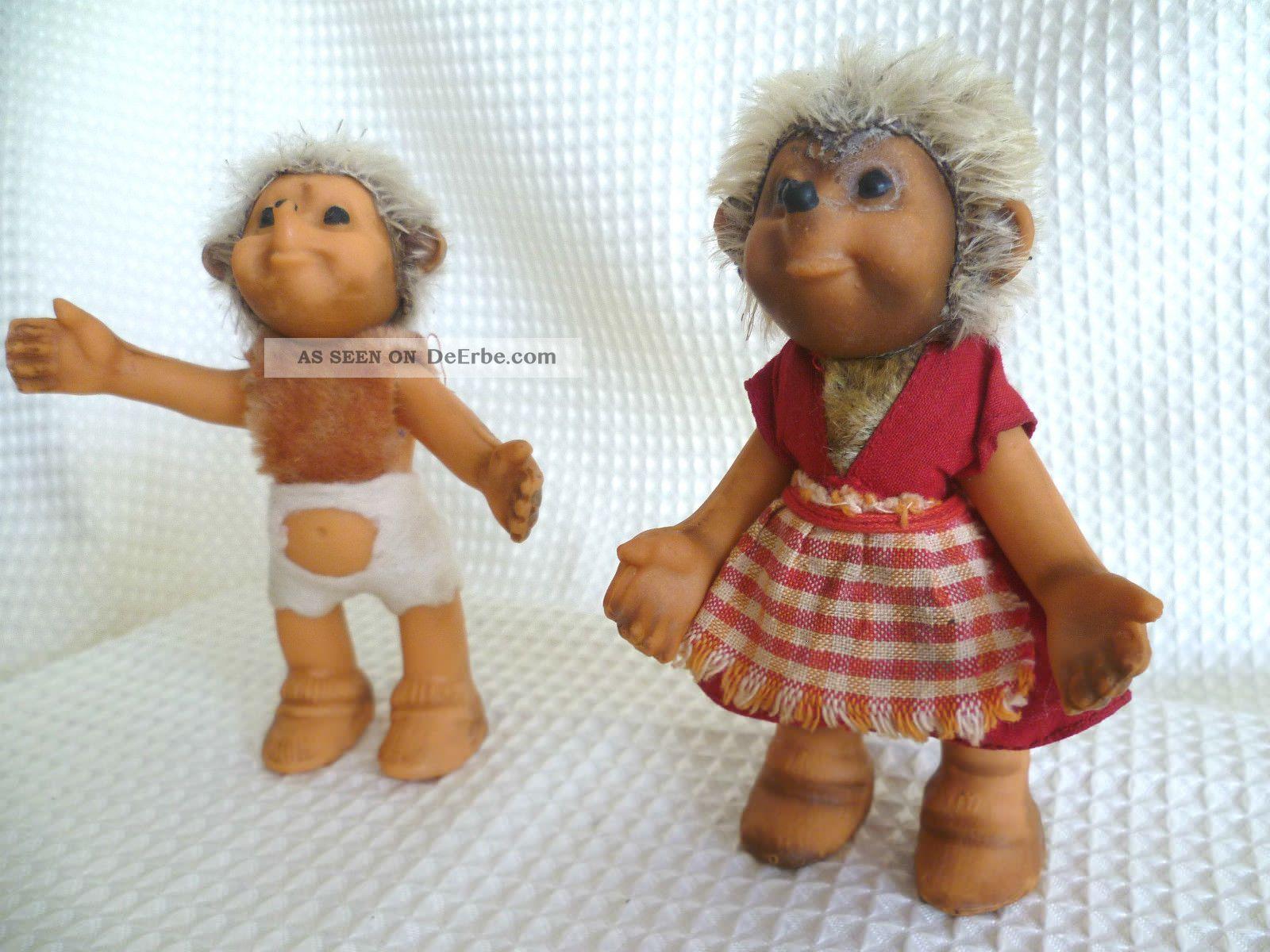 Steiff Mecki Familie Mucki Mädchen Macki Junge 50er Jahre O.  Knopf /fahne 12cm Stofftiere & Teddybären Bild