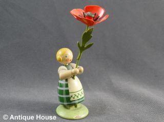 Erzgebirge We - Ha Kunst Dresden Blumenkind Mit Mohnblume Bild