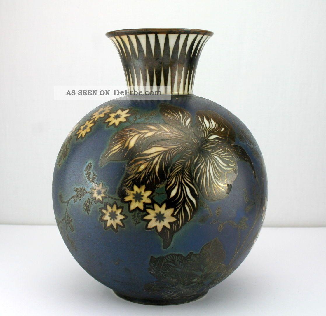 Seltene Rosenthal Porzellanvase Silveroverlay Art Deco Vase 20er 30er Jahre 21cm Nach Marke & Herkunft Bild