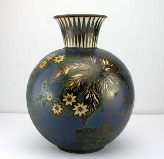 Seltene Rosenthal Porzellanvase Silveroverlay Art Deco Vase 20er 30er Jahre 21cm Bild