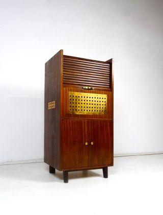 60er Design Bar Danish Modern MÖbel Teak Mid Century Barschrank Vintage Bild