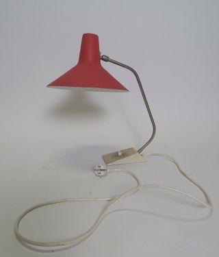 Sis Mid Century Design Schreibtischlampe Rot Voll Funktionsfähig Bild