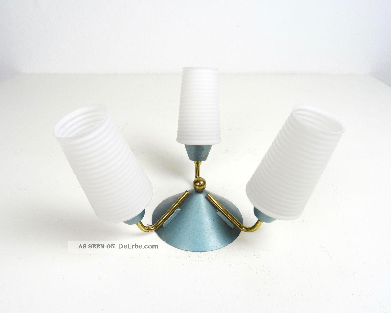 Seltene Vintage 50er Deckenlampe 60er Design Leuchte Stilnovo Ära Rockabilly 1960-1969 Bild
