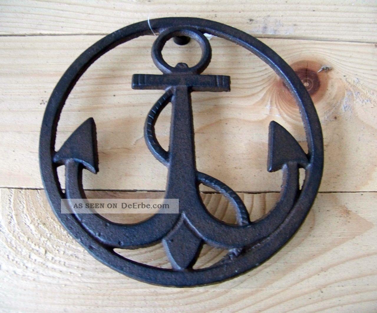 Untersetzer Anker Gusseisen Maritim Topfuntersetzer Antikbraun Landhausstil Maritime Dekoration Bild