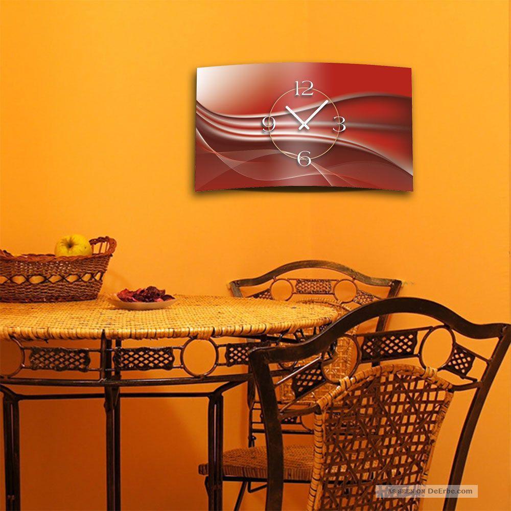 abstrakt kupferrot designer wanduhr modernes wanduhren design leise kein ticken. Black Bedroom Furniture Sets. Home Design Ideas