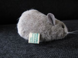 Graue Maus Teddy Hermann Bild